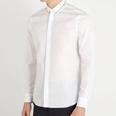 スタッドポイントカラーロングスリーブシャツ(3size)