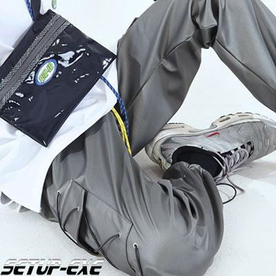 【SETUP-EXE】サイドポケットパンツ -  SHINY GRAY