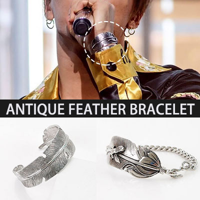BIGBANG SOL[MADE]活動中のファッションアイテム!アンティークフェザー羽根 ブレスレットAntique feather  ANTIQUE FEATHER BRACELET