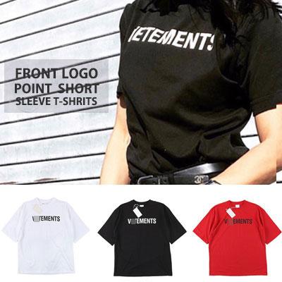 [UNISEX] フロントロゴポイントシャツ/半袖(3color)