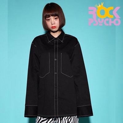 【ROCK PSYCHO】ブラックオーバーリングシャツ