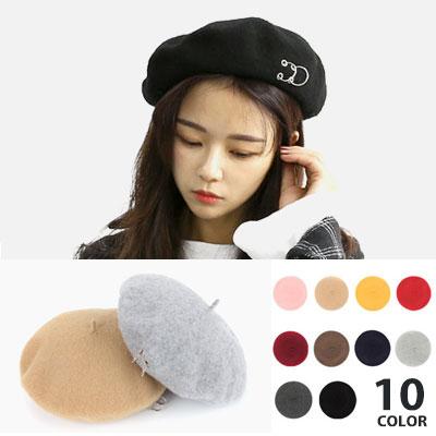 [UNISEX] 2リングポイントカラーベレー帽(10color)