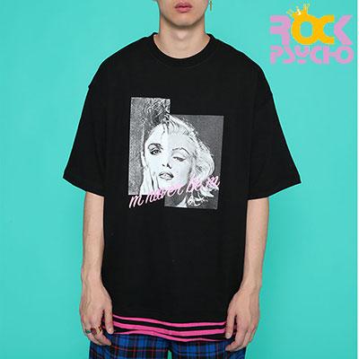 【ROCK PSYCHO】MMオーバーサイズ半袖Tシャツ-BLACK