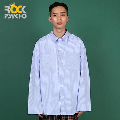 【ROCK PSYCHO】ストライプオーバーサイズシャツ