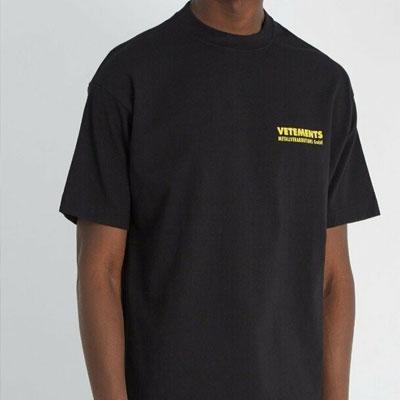 [UNISEX] イエローバックロゴプリントショートスリーブTシャツ/半袖