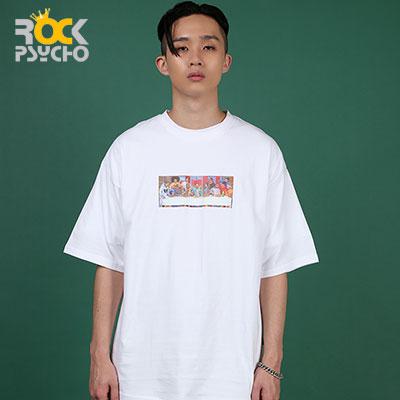 【ROCK PSYCHO】ヒップホップパーティー半袖Tシャツ( 2 COLORS )