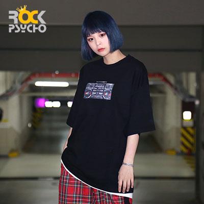【ROCK PSYCHO】カセットプリント半袖Tシャツ ( 2 COLORS )