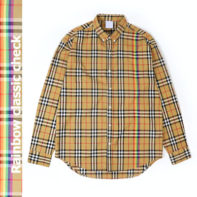 [UNISEX] レインボーチェックロングスリーブシャツ