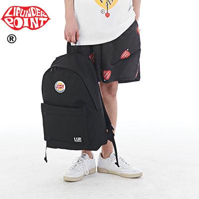 [LIP・UNDER・POINT] ハンバーガーロゴバックパック-BLACK