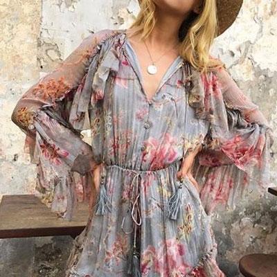 フラワーサマードレス(2color)