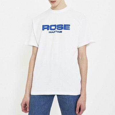 [UNISEX] ブルーレタリングポイントtシャツ/半袖(2color)