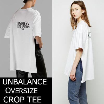 ★当日発送★UNISEX★シックな感性のオーバーサイズサイドオープンTシャツ(BLACKWHITE)