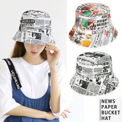 [UNISEX] ニュースペーパーバケットハット (2color)