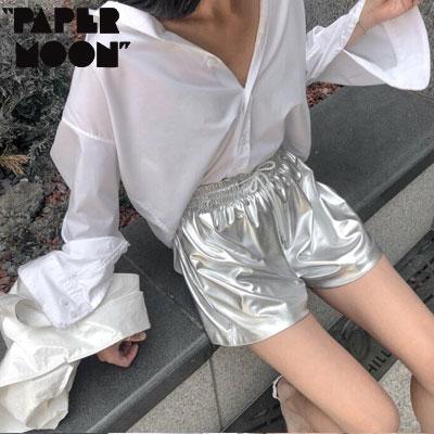 【PAPER MOON】メタリックショーツ -silver