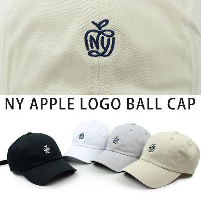[UNISEX] NY アップル刺繍ボールキャップ(4color)