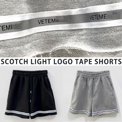 [UNISEX] スコッチライトロゴテープショーツ(2color)