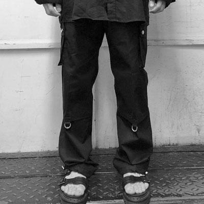 マルチポケットストリングカーゴパンツ(2color 2size)