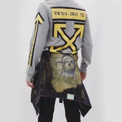 [UNISEX] ボールドブラックラインアローポイントスウェットシャツ(2size)