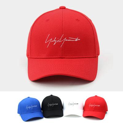 [UNISEX] SIGNATURE EMBROIDERY BALL CAP(4color)
