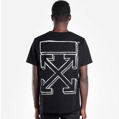 [UNISEX] スケッチアローバックプリントショートスリーブtシャツ/半袖(2color 2size)
