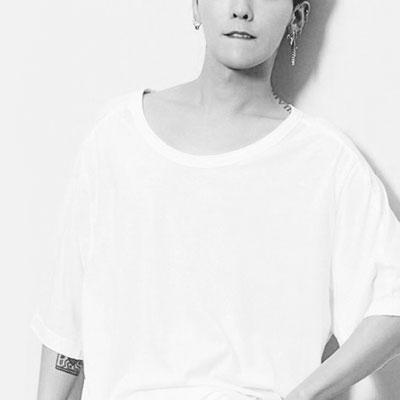 [UNISEX] BIGBANG/GD/gdragon st. ウォッシングUネックショートスリーブtシャツ/半袖(2color)
