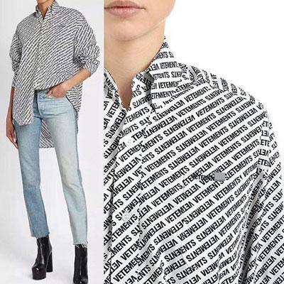 [UNISEX] マルチロゴパターンのオーバーサイズシャツ