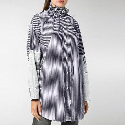 オープンカラーチュニックセミオ・バフェットシャツ