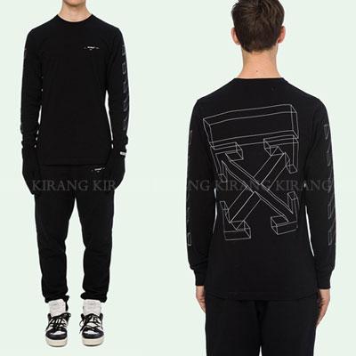 [UNISEX] 3Dホワイトラインアローロングスリーブtシャツ/長袖(2color)