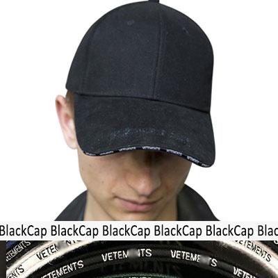 プレーンディックロゴブラックボールキャップ