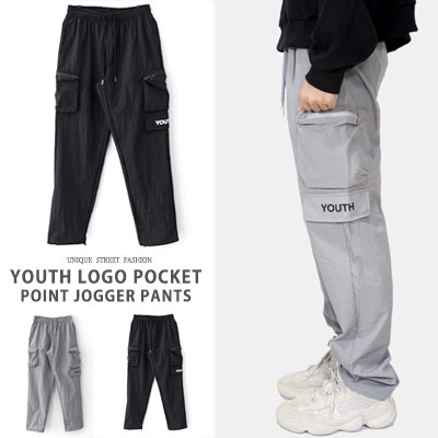 YOUTHロゴポケットポイントジョガーパンツ(2color)