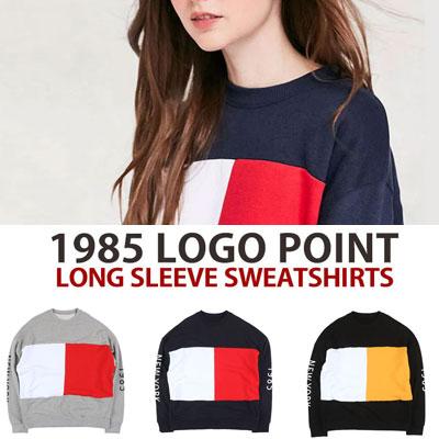 [UNISEX] 1985ニューヨークスリーブプリントポイントスウェットシャツ(3color)