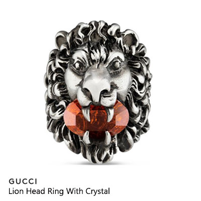 《only VIP★オーダー後ハンドメイド-2〜5日》LINE CUCC@ Lion Head Ring With Crystal