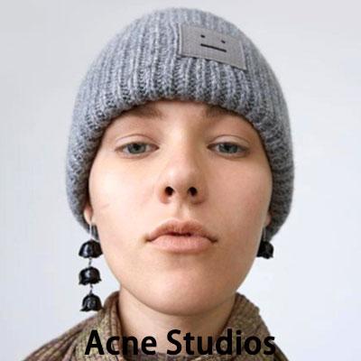《only VIP》LINE Acn@ Studios Pansy L face beanie  [grey,violet,black,beige]