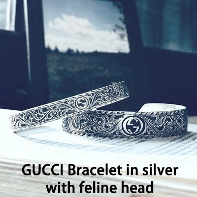 《only VIP》LINE G@CCI Bracelet in silver with feline head