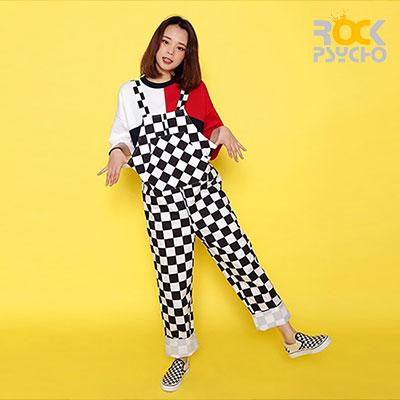 【ROCK PSYCHO】チェッカーボードジャンプスーツ