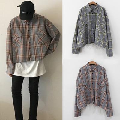 [UNISEX] ワイルドクロップチェックシャツ(2color)