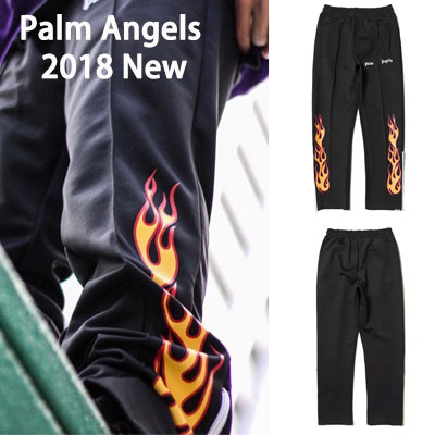 《only VIP》LINE P@lm Angels Jogger Pants 2018 New Flame-black