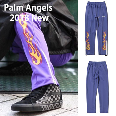 《only VIP》LINE P@lm Angels Jogger Pants 2018 New Flame-purple