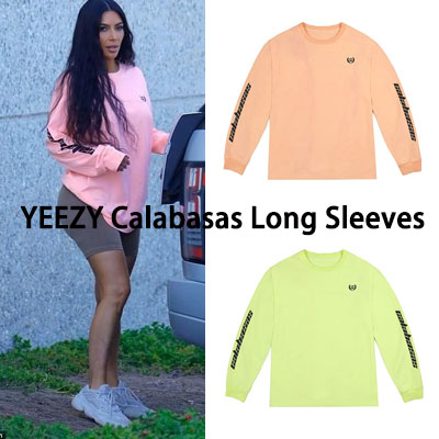 《only VIP》LINE YE@ZY Calabasas Long Sleeves (pink/green neon)