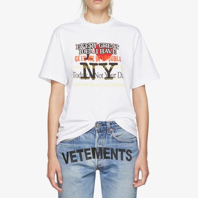 [UNISEX] LOVE NYロゴポイント半袖Tシャツ