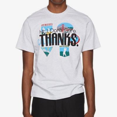 [UNISEX] THANKSロゴポイントショートスリーブTシャツ/半袖