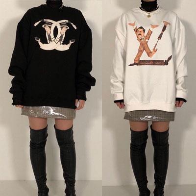 《only VIP》LINE fake logo 起毛 sweatshirts