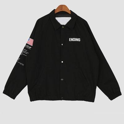 [UNISEX] アメリカフラグパッチジャケット (2color)