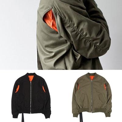 [UNISEX] マルチスリットMA-1ジャケット(2color)