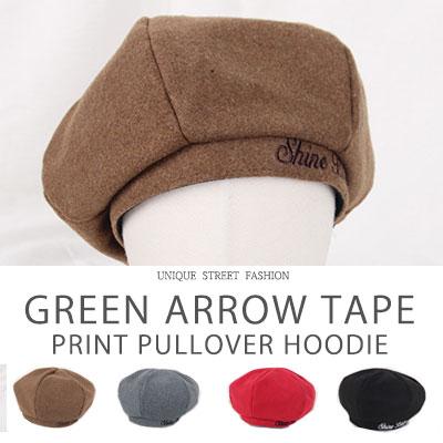 [UNISEX] シャインブライトロゴステッチベレー帽(4coor)