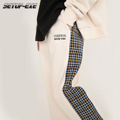 【SETUP-EXE】CHECK PANTS - Cream