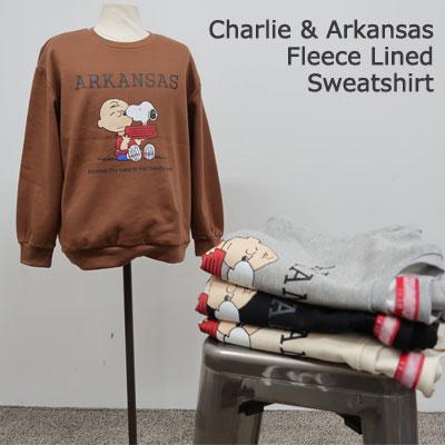 [UNISEX] チャーリー起毛ラインスウェットシャツ(4color)