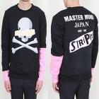 ストリートファッション通販|MASTE*MIND JAPAN st. 袖ピンク配色ポイントトレーナー(起毛)