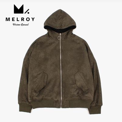 【MELROY】スエードジップアップフードジャケット(2color)