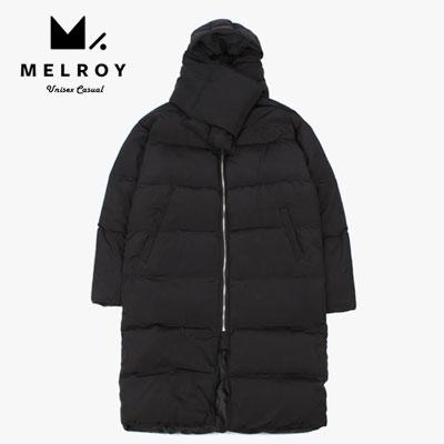 【MELROY】マフラーロングダウンジャケット(2color)/DUCK DOWN 100%